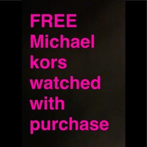 Free Michale kors watched w purchase